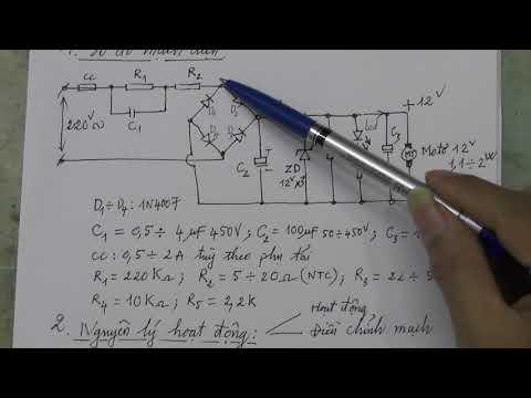 Thiết kế mạch nguồn hạ áp trực tiếp từ 220VAC lấy ra điện áp 12VDC