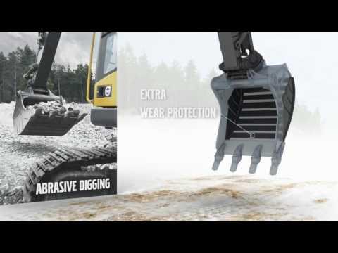 Ковш Reschke Rus нового дизайна на Volvo для погрузки камней
