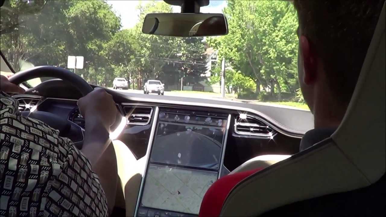 Tesla Model S Interior >> 2013 Tesla Model S Peformance (P85) Test Drive - YouTube