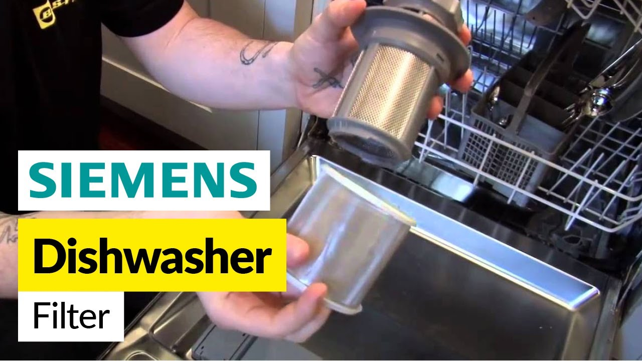 how to replace the dishwasher filter on a siemens dishwasher youtube. Black Bedroom Furniture Sets. Home Design Ideas