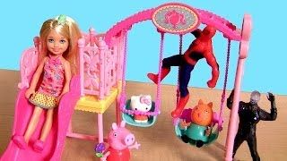Barbie Swing Set With Peppa Pig, Hello Kitty, Spiderman Electro Disney Baby Toys By Toycollector