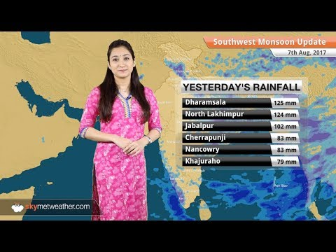 Monsoon Forecast for Aug 8, 2017: Rain in Delhi, Mumbai