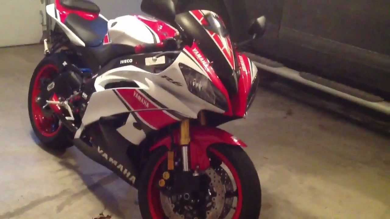 2012 Yamaha r6 frame sliders - YouTube