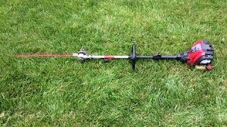 Troy Bilt Model TB525CS with Hedge Trimmer Attachment Cold Start - Trash Pick Find - April 28, 2015