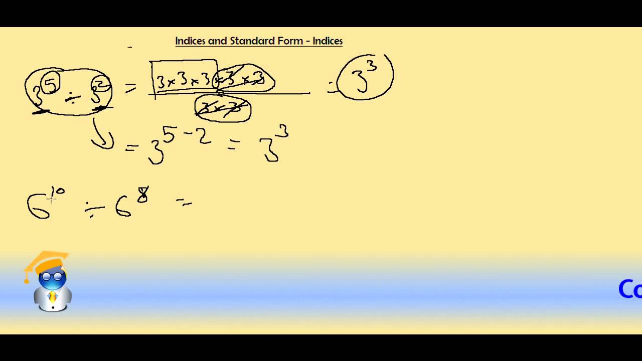 Indices and standard form indices youtube falaconquin