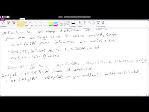 Mathematische Logik - Grundlagen - Variablen und Substitution