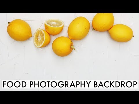 DIY Backdrop for Food Photography