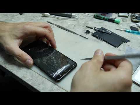 Ремонт Samsung A8 2018 (A530F). Сплошной клей. Замена стекла.