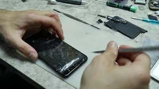 Samsung A8 2018 (A530F) ta'mirlash. Qattiq elim. Shisha almashtirish.