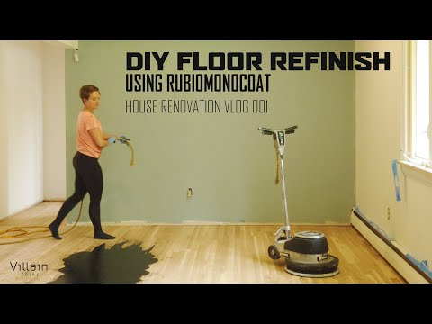 DIY FLOOR REFINISH USING RUBIO MONOCOAT VLOG