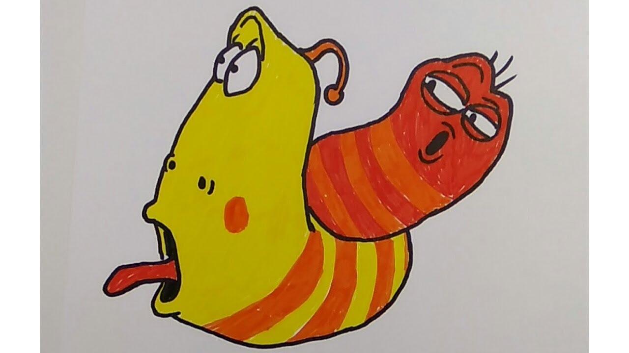 56 Gambar Kata Kartun Larva