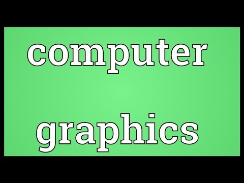 Computer graphics Meaning