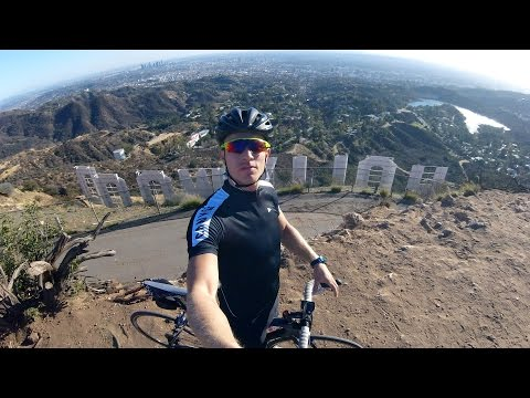 How to get behind the HOLLYWOOD sign! - #cycling Los Angeles