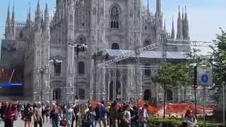 Достопримечательности Милана. Соборная площадь(Прогулка по центру Милана к соборной площади, на которой расположен один из крупнейших кафедральных соборо..., 2015-05-08T08:47:49.000Z)