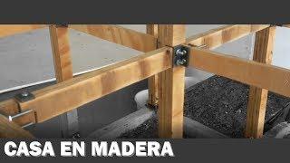 cómo hacer una CASA EN MADERA. sistema constructivo en madera-cimientos concreto reforzado