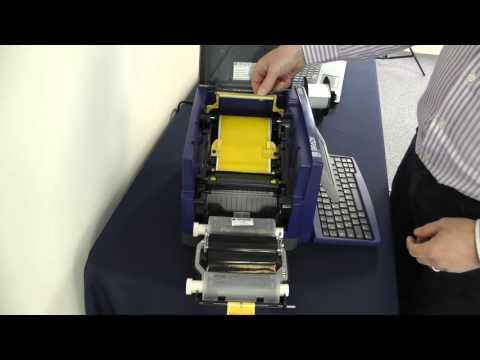 Brady BBP31 label printer - loading tape and ribbon