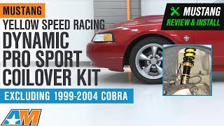 1994-2004 Mustang Yellow Speed Racing Dynamic Pro Sport Coilover Kit Review & Install