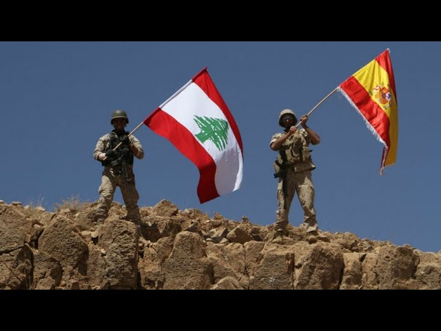 Lebanon: Army raises Spanish flag after victory on Islamic state group on Syrian border