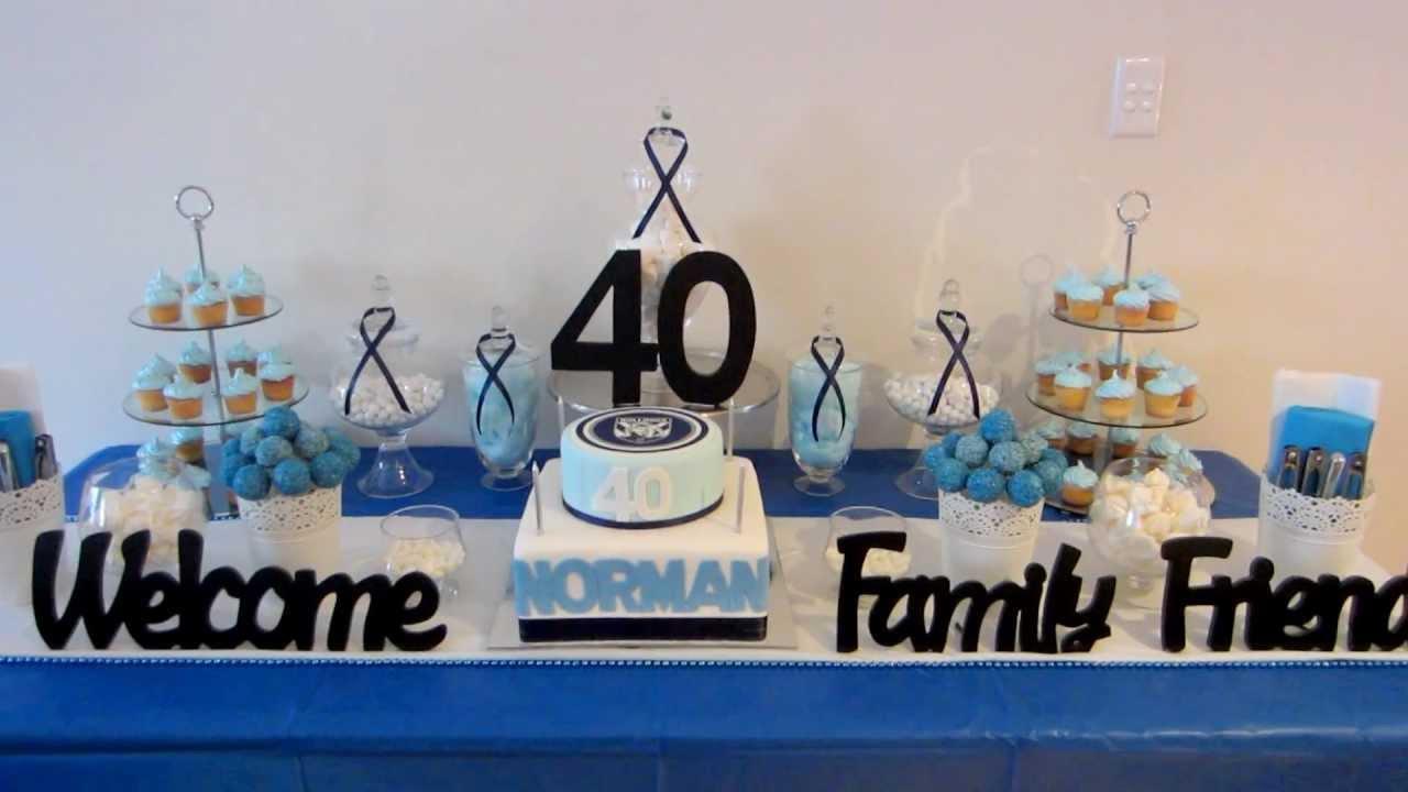 Blue White Dessert Table NRL Bulldogs Theme