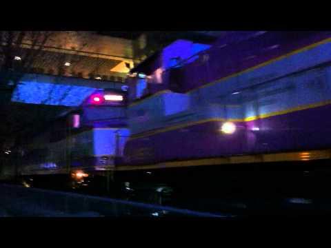 MBTA Commuter Rail Train at MIT Building 46