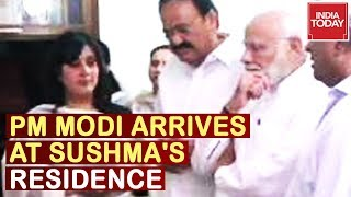 PM Modi Arrives At Sushma Swaraj's Residence, Amit Shah To Arrive Shortly | Live