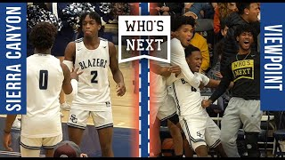 Sierra Canyon vs. Viewpoint -- Zaire jams + CAREER HIGH from Bronny!