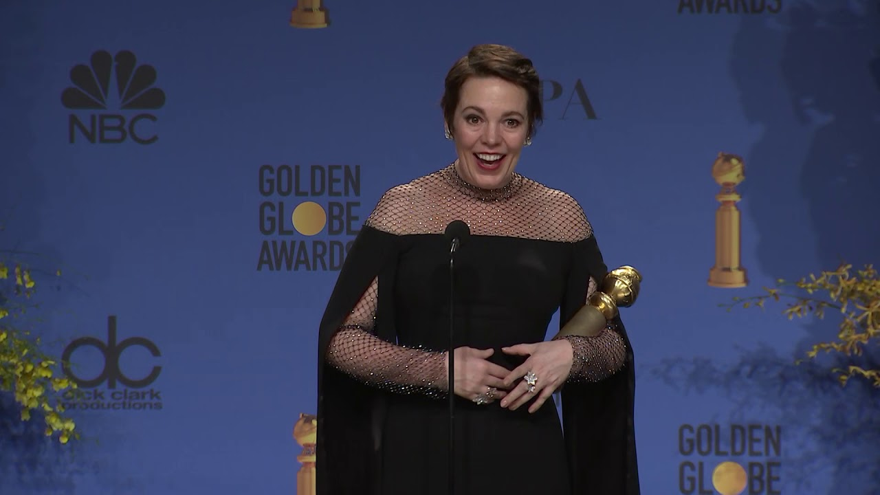 Olivia Colman - Golden Globes - Full Backstage Interview