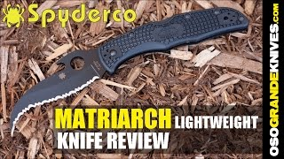 Spyderco Matriarch II Lightweight Emerson Opener Knife Review | OsoGrandeKnives