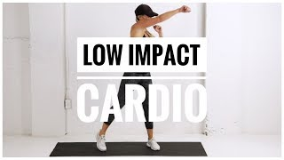 Low Impact HIIT CARDIO +  LEGS Workout // No Jumping + No Equipment