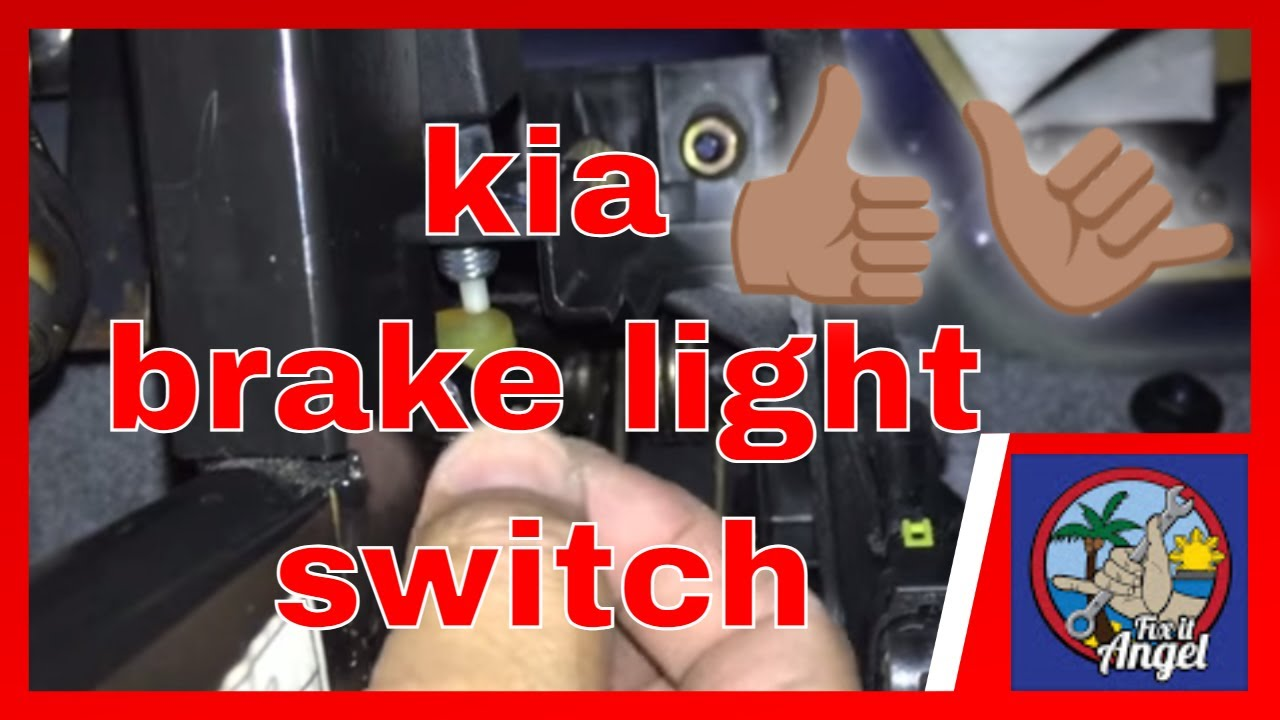 P0504 P0517 How to install brake light switch Kia Sedona