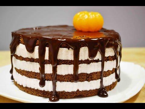 Шоколадный ТОРТ с Йогуртовым Кремом  | Шоколадные Подтёки | Chocolate CAKE With Yogurt Cream