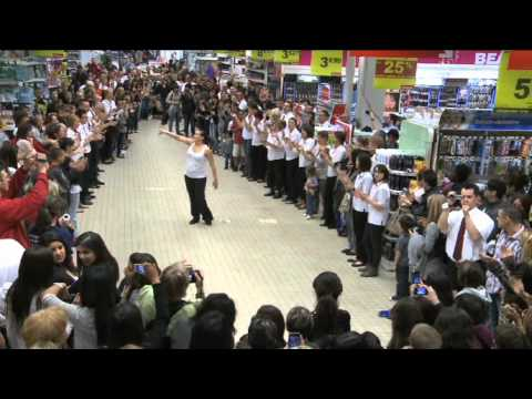 flashmob auchan centre deux saint etienne youtube. Black Bedroom Furniture Sets. Home Design Ideas