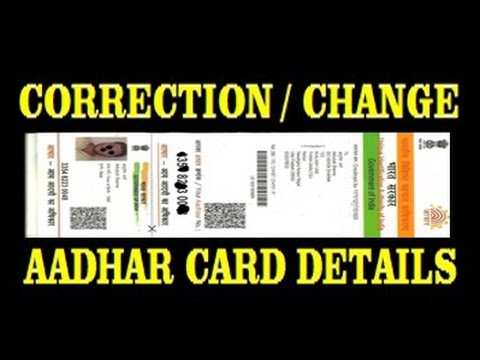 how to make correction in aadhar card details online