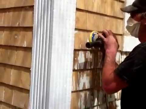 How To Strip Paint Off Cedar Shingle Siding Youtube