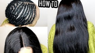 HOW TO DO Full Sew In WEAVE No Leave Out Tutorial ( BEGINNERS FRIENDLY )