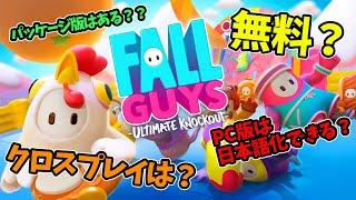【PS4無料】Fall Guys って面白い?クロスプレイや協力プレイはできる?PC版は日本語化できる?【フォールガイズ 情報まとめ PS4 / PC】