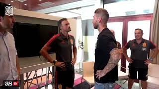 This is how Luis Enrique greeted Sergio Ramos