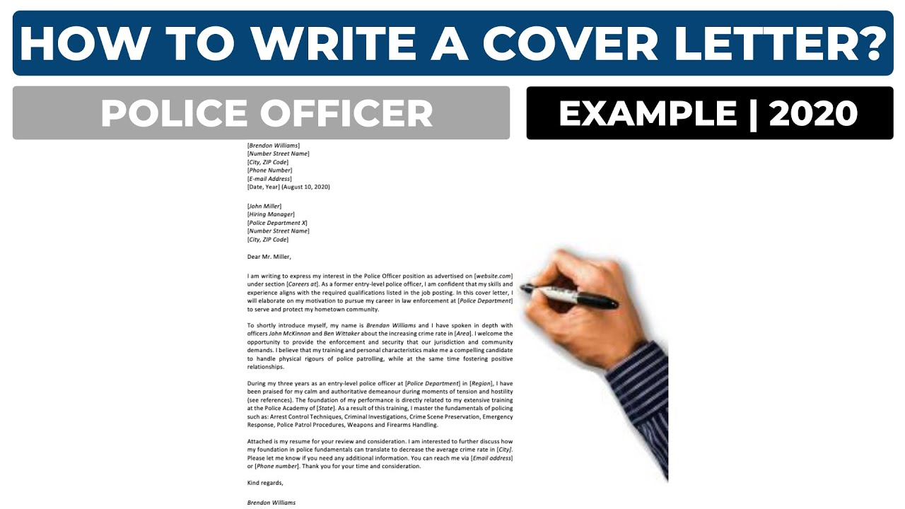 How To Write A Cover Letter For A Police Officer Position Example Youtube