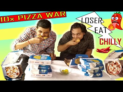 DOMINO'S PIZZA EATING CHALLENGE🔥 | EPIC CHILLY EATING |FUNNY REACTION| ORDERED ENTIRE DOMINO'S MANIA