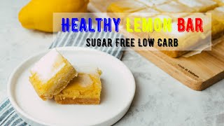 ?상큼한 레몬바 만들기 레시피 #10 (무설탕, 저탄수…