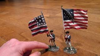 COLLECTABLE Toy Soldier Review William Britains American Continental Flag Bearer TOY SOLDIER REVIEW