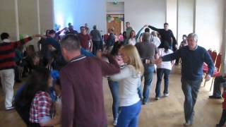 Opening barn dance at a party