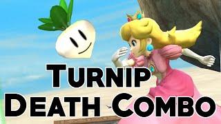Peach Turnip Insta-Throw Combos Advanced Technique - Super Smash Bros 4 (Wii U / 3DS)