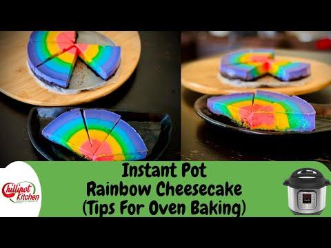 easy-instant-pot-rainbow-cheesecake- -how-to-make-rainbow-cheesecake- -no-gelatin- -baked-cheesecake
