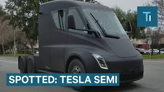 A Tesla Semi Was Spotted On A Public Road - Here's An Update On The Truck