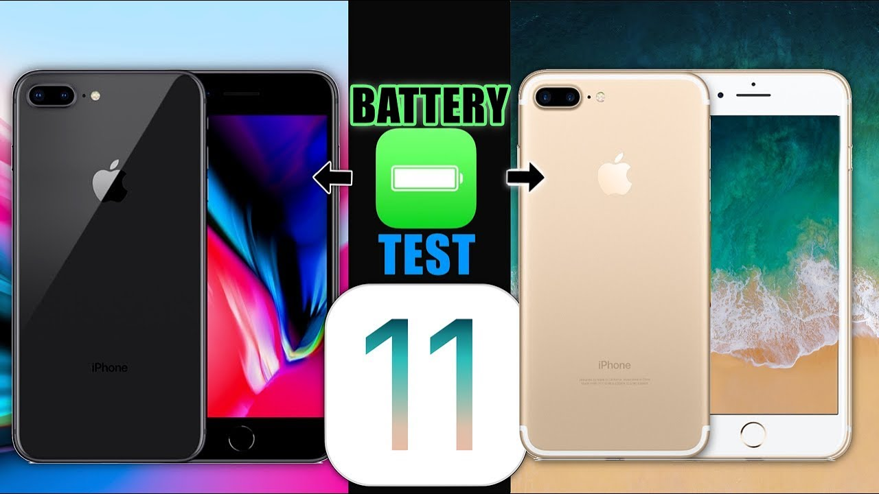 sports shoes cf1b1 fc53d iPhone 8 Plus Vs iPhone 7 Plus Battery TEST |This Might Surprise You