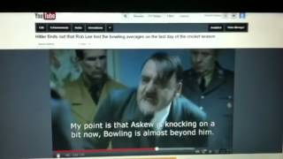 Adolf finds out that Rob Lee lost the bowling averages on t