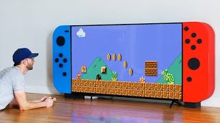 I made a GIANT NINTENDO SWITCH... with storage for my video games! Video