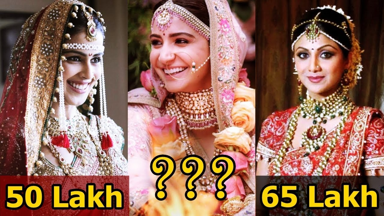 Top 9 Most Expensive Wedding Dress Of Bollywood Actress | Anushka ...