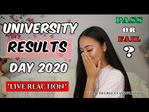 LIVE REACTION // OPENING FINAL DEGREE GRADE - UNIVERSITY RESULTS 2020 *not going graduation*
